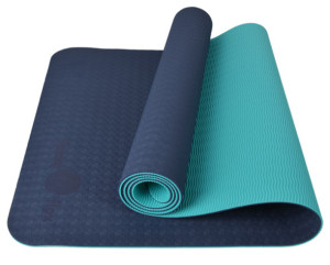 Eco-Flex Yoga Mat: Navy Blue